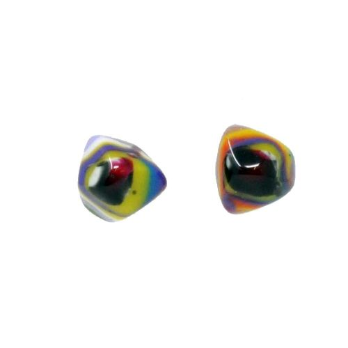 Jackie Brazil Abstract Camille Stud Earrings in Kandinsky